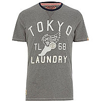 Dark grey Tokyo Laundry Lincoln t-shirt