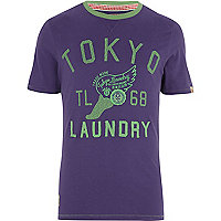 Purple Tokyo Laundry Lincoln t-shirt