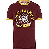Dark red Tokyo Laundry Rollin t-shirt