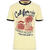 Yellow Tokyo Laundry Hawaii surf t-shirt