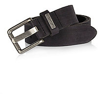 Black skinny signature belt