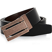 Black mottled buckle belt