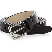 Black super skinny belt