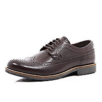 Dark brown formal brogues
