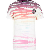 Pink Friend or Faux tie dye t-shirt