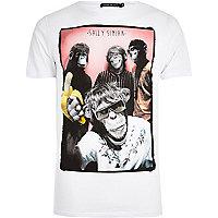 White Friend or Faux front print t-shirt