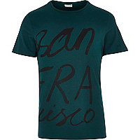 Green Jack & Jones Premium San Fran t-shirt