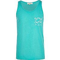 Turquoise surf club print vest