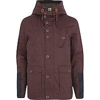 Dark red casual jacket