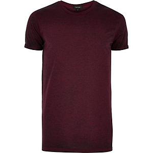 Dark purple burnout t-shirt