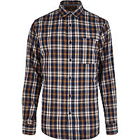 Brown Jack & Jones Vintage check shirt