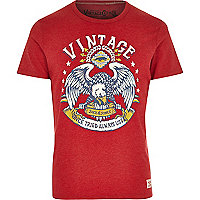Red Jack & Jones Vintage eagle t-shirt