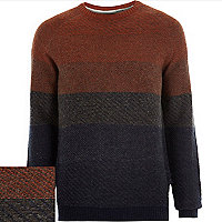 Orange Jack and Jones Vintage knit jumper