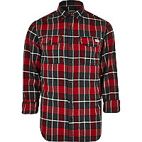 Red Jack & Jones Vintage checked shirt