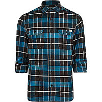 Blue Jack & Jones Vintage checked shirt