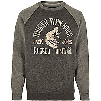 Grey Jack & Jones Vintage nails sweatshirt