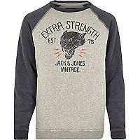 Grey Jack & Jones Vintage strength sweatshirt