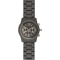 Grey matte metal bracelet watch