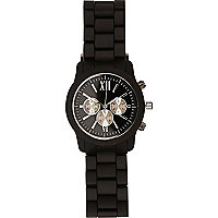 Black matte metal bracelet watch