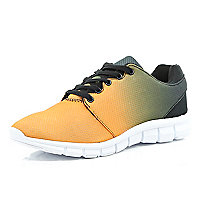 Orange ombre trainers