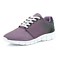 Purple ombre trainers