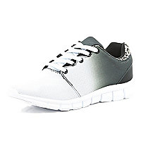 White ombre trainers