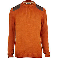 Orange Tokyo Laundry shoulder patch jumper