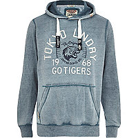 Blue Tokyo Laundry Tiger front print hoodie