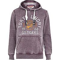 Purple Tokyo Laundry Tiger print hoodie