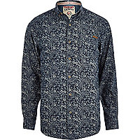 Blue Tokyo Laundry floral print shirt