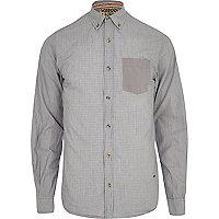 Grey Tokyo Laundry contrast pocket shirt
