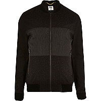 Black RI Studio contrast panel bomber jacket
