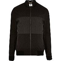 Black RI Studio contrast panel bomber jacket