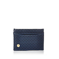 Navy Mipac perforated card holder