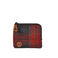 Red Mipac tartan coin holder