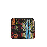 Black Mipac Aztec print coin holder