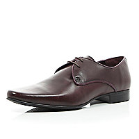 Dark red high shine leather formal shoes