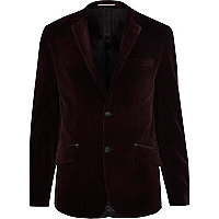 Purple velvet blazer