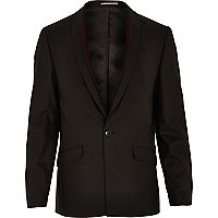 Black leopard trim blazer