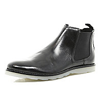 Black Design Forum Chelsea boots