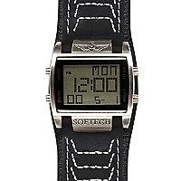 Black square digital watch