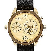Gold tone oversized watch