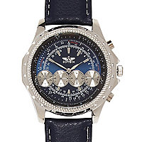 Dark blue dial watch