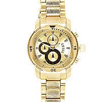 Gold tone bracelet watch
