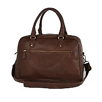 Brown bowling bag holdall