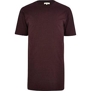 Purple short sleeve longer length t-shirt