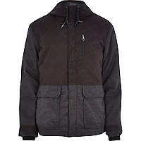 Black Only & Sons contrast panel jacket