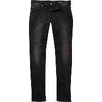 Washed black Only & Sons slim jeans