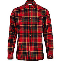 Red Only & Sons brushed check shirt