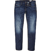 Mid wash Bellfield coated slim jean